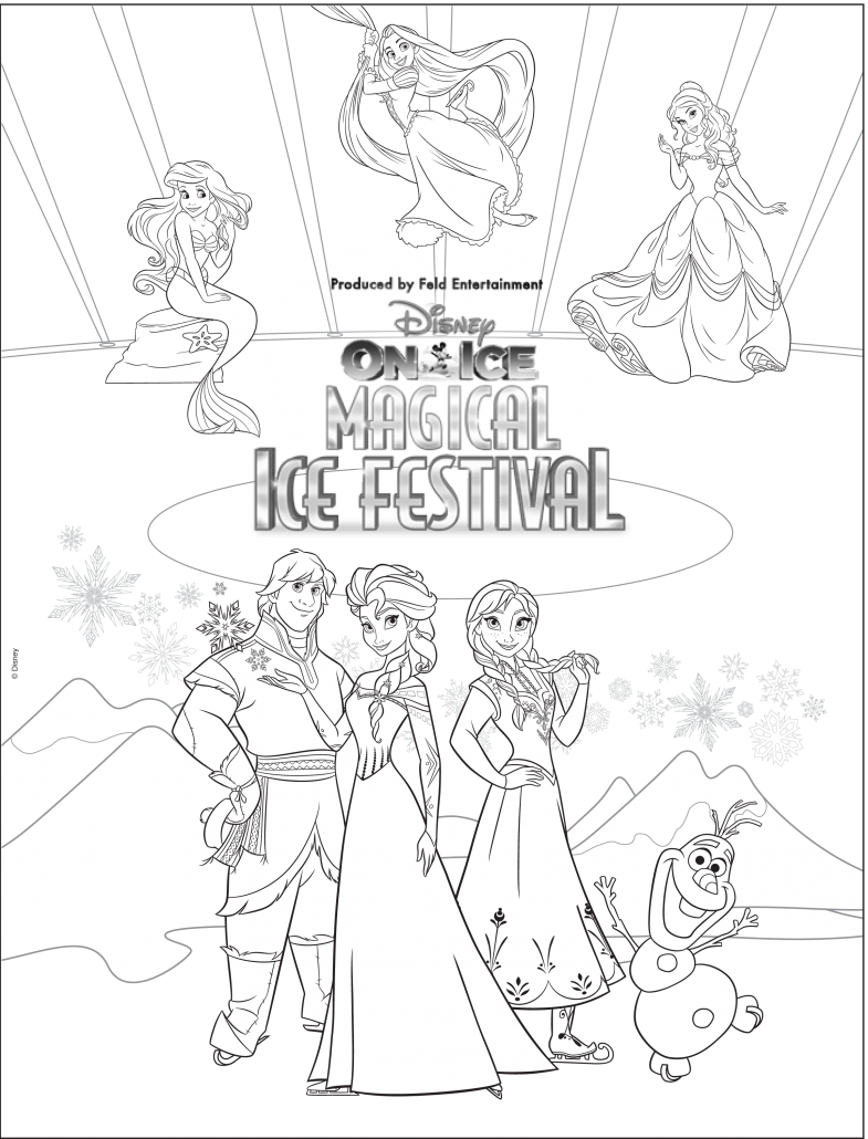 Disney on ice presents worlds of enchantment o2 arena for Disney on ice coloring pages