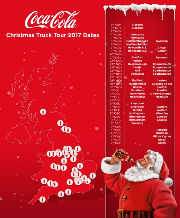 coca cola truck dates 2017