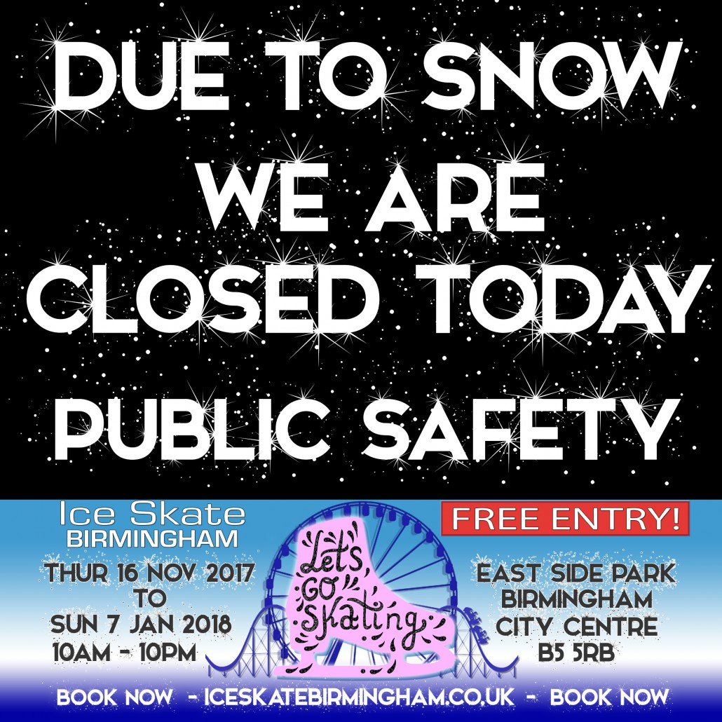 closed due to snow
